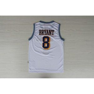 Los Angeles Lakers #8 Kobe Bryant White Jersey